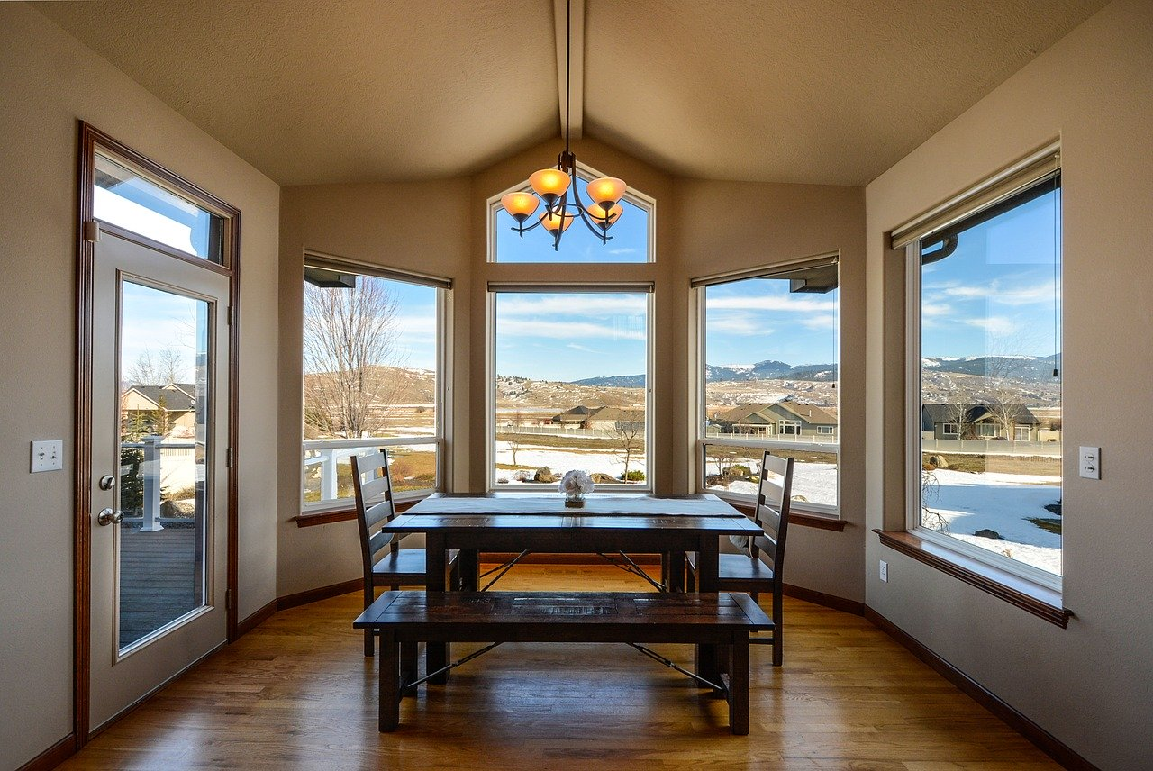 dining, dining room, view