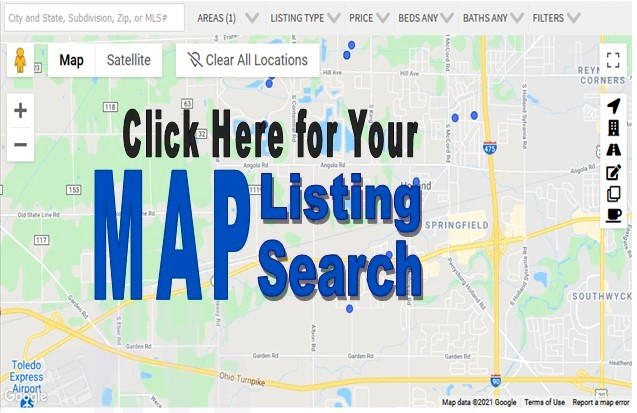MAP Listing Search Toledo for home for sale NW Ohio